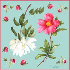 Silk scarf. Carré de soie. Green garden. Jardin vert. 90x90cm.  www.vincentjeannerot.fr