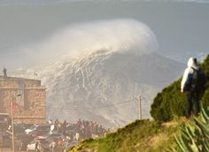 Video: The Black Swell Has Returned – Giant Mountains Of Water Scream Into The Portuguese Town Of Nazaré And It's Dangerous Deep Water Beach Break!