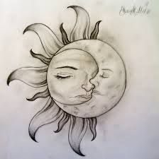 Image result for images of sun & moon tattoos