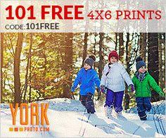York Photo 101 FREE 4x6 Prints! - http://www.momscouponbinder.com/york-photo-101-free-4x6-prints/ #christmas #holidayphoto #hotdeals #freebies