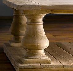 Balustrade Salvaged Wood Coffee Tables