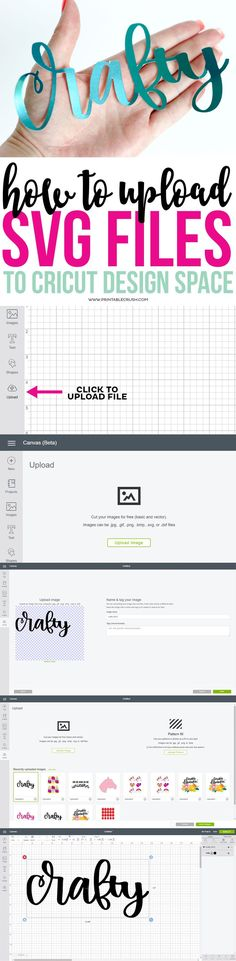 Use this simple tutorial to learn how to upload SVG Files to the new Cricut Design Space! It's so incredibly easy!
