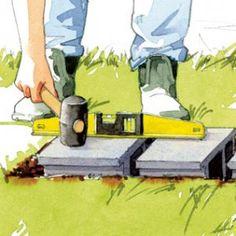 Comment Poser Une Terrasse Composite Sur Lambourdes Et Plots Construction Terrasse Terrasse Bois Terrasse Composite Terrasse Bois Composite