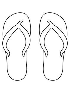 kleurplaat slippers - Google zoeken