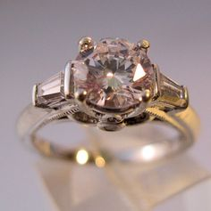 1.6ct Solitaire CZ Sterling Art Deco Style by BrightEyesTreasures, $39.00