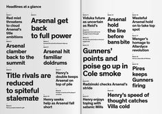 Typography Plays the Arsenal Way, brochure submitted and designed by Ivo Runggaldier (2011) –Type OnlyUnit Editions