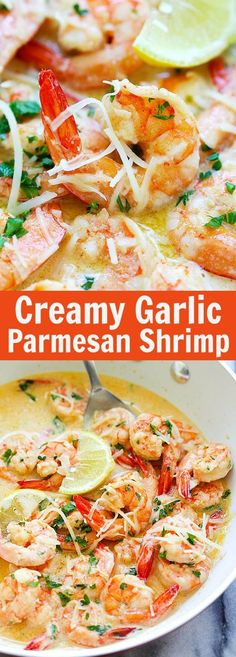 BEST shrimp ever, with rich, buttery, creamy garlic Parmesan sauce. Takes 15 mins and so good | rasamalaysia.com