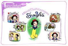 Elsa, Anna, Blanche Neige, Belle, Raiponce, Mérida, Cendrillon et Elinor