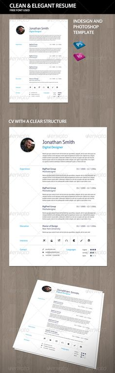 Simple Resume\/Cv Bundle Volume 2 Simple, Resume and Stationery - simple resumes