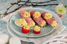 Sushi, Eggs, Easter, Breakfast, Ethnic Recipes, Food, Morning Coffee, Easter Activities, Essen