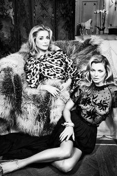 Catherine & Kate Moss by Patrick Demarchelier ( Vanity Fair 2014 )