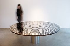 Paul Cocksedge exhibits a series of furniture created by joining different metals through a freezing process at New York's Friedman Benda gallery.
