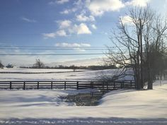 *Snow in the bluegrass state.  3/5/15.