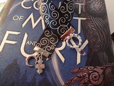 A Court of Thorns and Roses Inspired Ribbon Book Mark, Night Court/Rhysand Edition by TheWorldOfFandom on Etsy