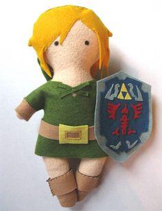 The Legend of Zelda Link plushie - www.craftster.org