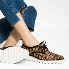ce0a1add3 BRAIDED LEATHER BLUCHERS-Flats-SHOES-WOMAN | ZARA Slovenia Sapatos, Mulher,