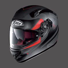 Casco da Moto Integrale X-LITE X-661 FLAT BLACK RED
