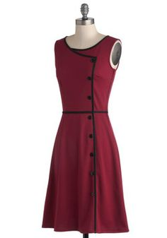 Chord-ially Yours Dress in Magenta, #ModCloth