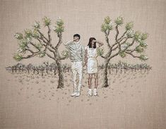Michelle Kingdomembroiders tiny worlds that aim to unravel our inner perceptions. Using delicate threaded details, Kingdom fabricates curious scenes
