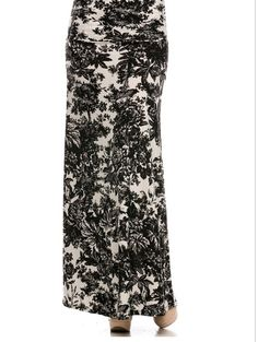 """The Eclipse"" Black & White Floral Maxi Skirt Now available at Shannasthreads.com"
