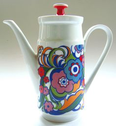 1960s Kahla (West German) Psychedelic Coffee Pot