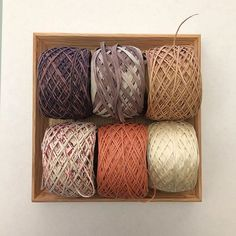 """@habutextiles's photo: """"Yarn sampler no. 3 - GIMA is now available. 6 different yarns - various width in silk & cotton! www.habutextiles.com/sampler-3 #habutextiles #gimacotton"""""""