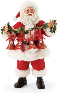 Possible Dreams Song Series I Heard the Bells on Christmas Morning 2017 Santa Figurine