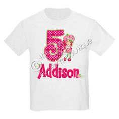 Strawberry Shortcake Birthday Shirt Personalized With ANY Name & Age. $13.00, via Etsy.