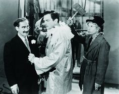 Groucho Marx and Harpo Marx in A Night at the Opera