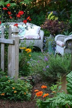 Butterfly garden seating