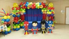 Baby Superhero balloon arch
