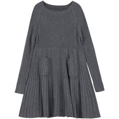 Knitted smock dress (225 PEN) ❤ liked on Polyvore featuring dresses, vestidos, smocked dresses, loose fit dress, loose dresses, raglan dress and loose fitting dresses