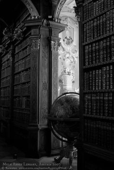 Hogwarts Library, Harry Potter, Mystery Series, Paradox, Fantasy, Celestial, Black And White, Dark, Drawing