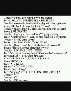 The 7 in Kindergarten Percy Jackson Percy Jackson Film, Percy Jackson Memes, Percy Jackson Fandom, Leo Valdez, Magnus Chase, Solangelo, Percabeth, Fandoms Unite, Rick Y