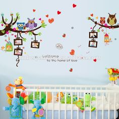 Reusable anchor nursery wall decals owl decals for wall
