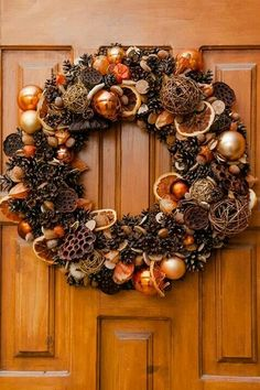 Pin by Neda Conley on Good ideas Rustic Christmas, Christmas Crafts, Christmas Decorations, Wreaths And Garlands, Holiday Wreaths, Wreath Crafts, Diy Wreath, Harvest Crafts, Feather Wreath