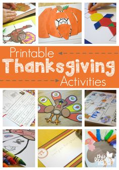 FREE Printable Thanksgiving Activities from This Reading Mama