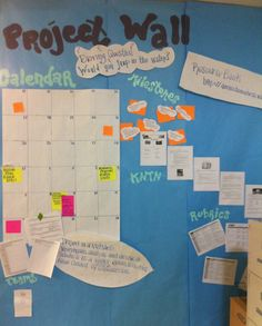 Love this: Managing Projects | Project Based Learning | BIE | Launch the project with an entry event, create teams, and create a project wall. By Myla Lee and Charity Allen