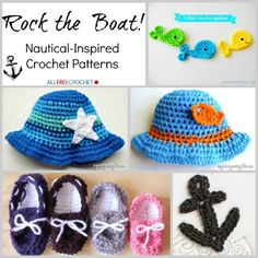 nautical collage blog Rock The Boat: 15 Nautical Inspired Crochet Patterns for Summer