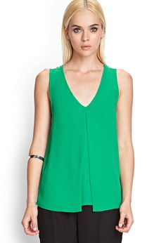 Pleated Crepe Woven Blouse   FOREVER21 - 2000123385