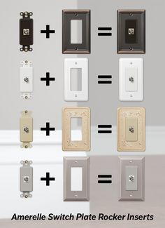 Amerelle Wall Plates Prepossessing Amerelle Steps 84Tn 1 Toggle Wall Switch Plate  Satin Nickel Design Decoration