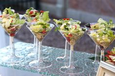 good ideas for soups and salads for a cocktail reception