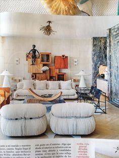 Vogue España en Febrero trae este salón californiano de estética 70' que me alucina 💞