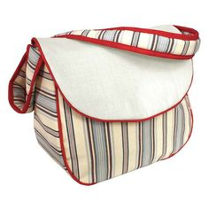 Hoohobbers Stellar Stripes Messenger Diaper Bag with Optional Personalization - 231-85