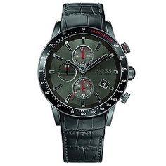 9fcecebe275 Relógio Hugo Boss Masculino Couro Preto - 1513445 Relogios Masculinos  Importados