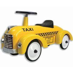 Bil i gult - Taxi i gruppen - Bilar & fordon hos Blå Elefant (ima-1995). Yellow taxi.