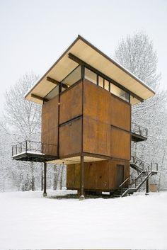 Tom Kundig's Delta Shelter by Olson Sundberg Kundig Allen | http://architecturephotocollections.blogspot.com