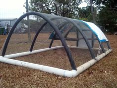1000 images about hoop house on pinterest chicken for Pvc chicken tractor plans