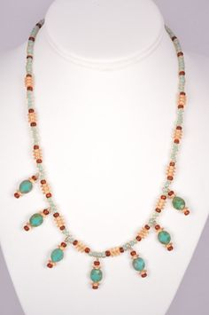 19 Inch Necklace Glass Beads Czech Picasso by FiveLeavesFound, $36.00