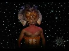 "This is one of my favorite parts.  Of course, in the actual show there is a giant Mufasa head in the sky which is even cooler, but hey....""He lives in you"" from Lion King on broadway  (reprise) on the view"